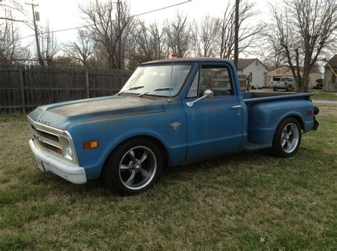 mike autry s blue 1968 c10 stepside customers trucks 1968 chevy truck chevy trucks