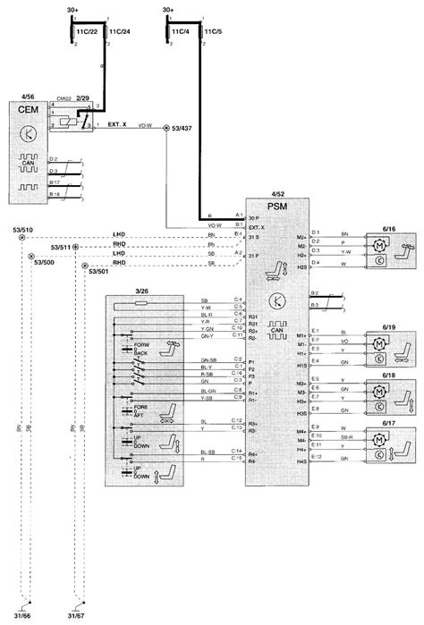 Volvo Wiring Diagrams Power Seat