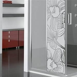Stickers Pour Vitre : sticker vinyle sabl pour vitre fleur d 39 orchid e 185x55cm stickers vitre stickers muraux ~ Melissatoandfro.com Idées de Décoration