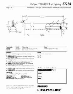 Prospec 120v  277v Track Lighting 37254 Manuals