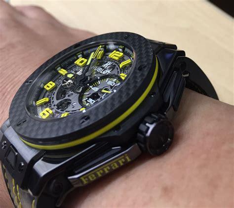 Hublot black ceramic big bang unico ferrari watch 401.cx.0123.vr $ 16,339 Pin op My hobbies