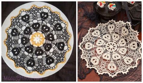 crochet skull doily  crochet patterns