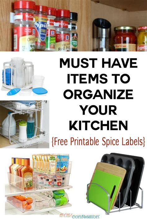 10 Must Haves To Organize Your Kitchen