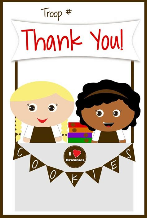 girls scouts  printable brownies   cards