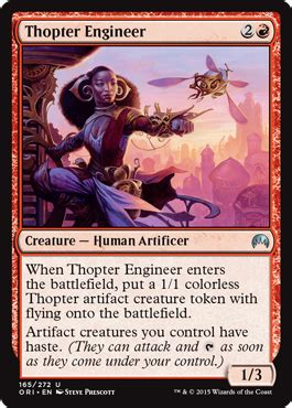thopter deck magic duels thopter engineer from magic origins spoiler