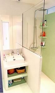 optimisation d39une toute petite salle de bain parisienne With toute petite salle de bain