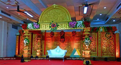 reception stage decoration  subburayalu reddiar kalyana