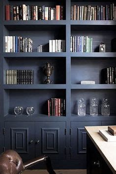 navy blue bookcase back of built ins painted navy blue contemporary living 1056