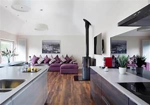 parquet salon cuisine maison bois bbc u taillan mdoc with With parquet cuisine ouverte