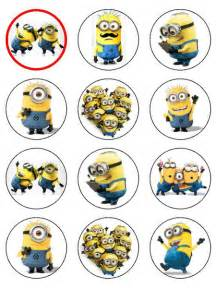 Minions Cupcake Toppers Printable