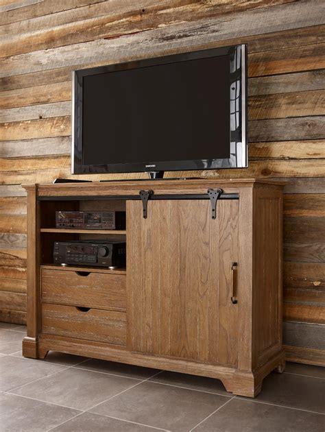 barn door media cabinet transitional rustic sliding barn door media chest with