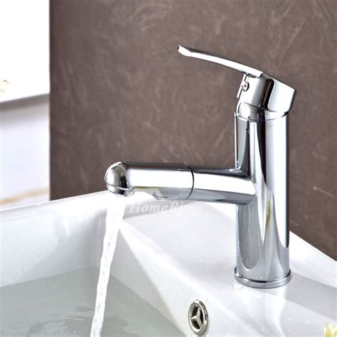 Pull Out Shower Faucet by Pull Out Bathroom Faucet Silver Chrome Brass Single Handle
