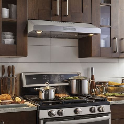 ge profile    cabinet vent hood stainless steel