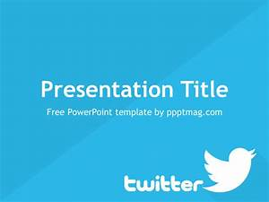 Free Twitter PowerPoint Template - PPTMAG