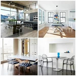 Chaises transparentes pour une salle a manger contemporaine for Meuble de salle a manger avec chaise salle a manger plexi