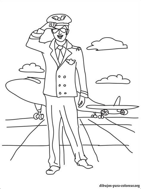 dibujo del aviador  colorear dibujos  colorear
