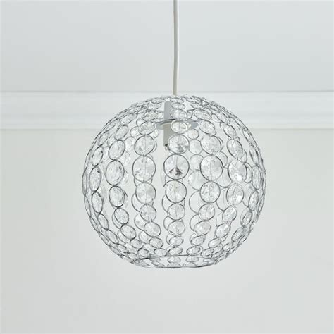 wilko beaded oval pendant shade clear at wilko