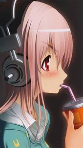 Tap, And, Get, The, Free, App, Art, Creative, Anime, Asia, Cartoon, Girl, Drink, Headphones, Hd, Iphone