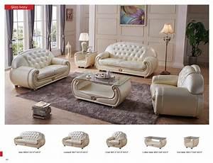 Contemporary, Luxury, Beige, Leather, Living, Room, Sofa, Esf, Giza, -, Walmart, Com