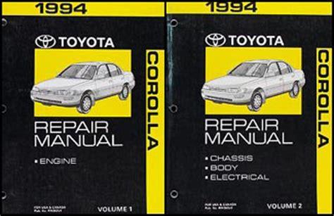 free online auto service manuals 1994 toyota xtra auto manual 1994 toyota corolla repair shop manual set original