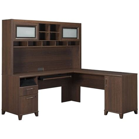 L Shaped Desks With Hutch by Bush Achieve L Shape Home Office Desk With Hutch In Sweet