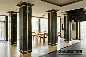 decorative columns stylish element in modern interior With decorative interior wall columns