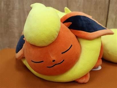 Eevee Sleeping Cuddle Plush Flareon Pokemon Sleep