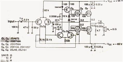 Scematic Diagram Mosfet Watt Ample Ckt