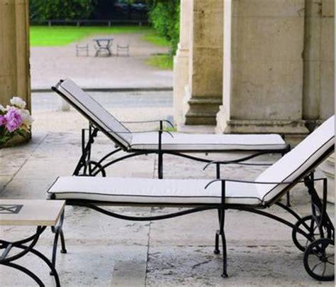 transat chaise longue en fer forg transat wrought iron chaise longue transat hierro forjado