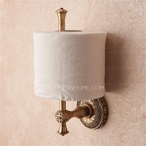 vintage antique bronze toilet paper roll holder freestanding
