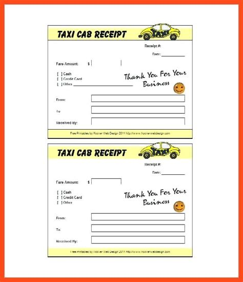 neat receipts taxi receipt blank blank taxi receipt word template