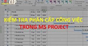 Ms Project Quick Tips  C U00e1c C U00e1ch Ki U1ec3m Tra Ph U00e2n C U1ea5p C U00f4ng