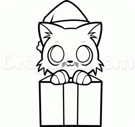 christ mas one drawing photo step 8 how to draw a kitten