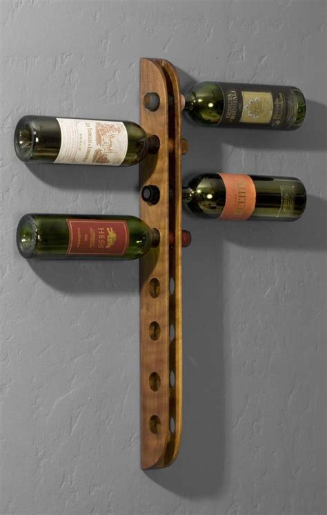 wine rack etsy wall mounted walnut wine rack by piserdesigns on etsy