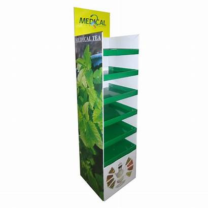 Display Recycle Medical Floor Displays Cardboard Tea