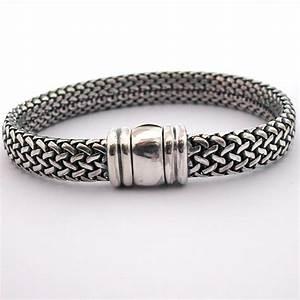Bracelet En Argent Homme : bracelet argent mod le milanais 100 achat vente bracelets pour homme ou femme ~ Carolinahurricanesstore.com Idées de Décoration