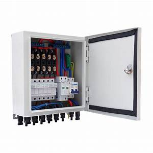 6 String Solar Pv Combiner Box W Circuit Breakers Surge