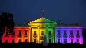 la maison blanche aux couleurs de l arc en ciel pour c 233 l 233 brer le mariage gai ici radio canada ca