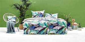 Parure De Lit Tropical : linge de maison textile ~ Teatrodelosmanantiales.com Idées de Décoration