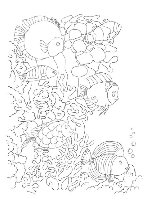Pin by Sherry Bucalo on Adult coloring in 2019 | Ocean coloring pages, Sea tattoo, Coloring pages