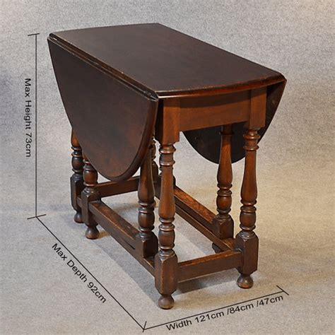 Antique Oak Oval Table Gateleg Drop Flap Victorian