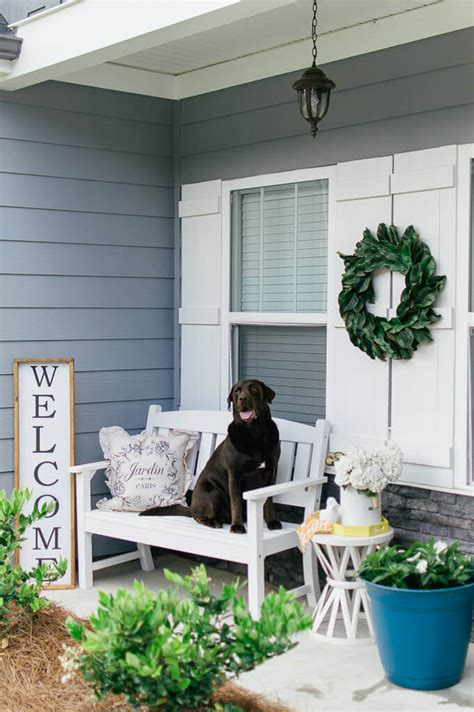 farmhouse front porch inspiration  summer  hosting home