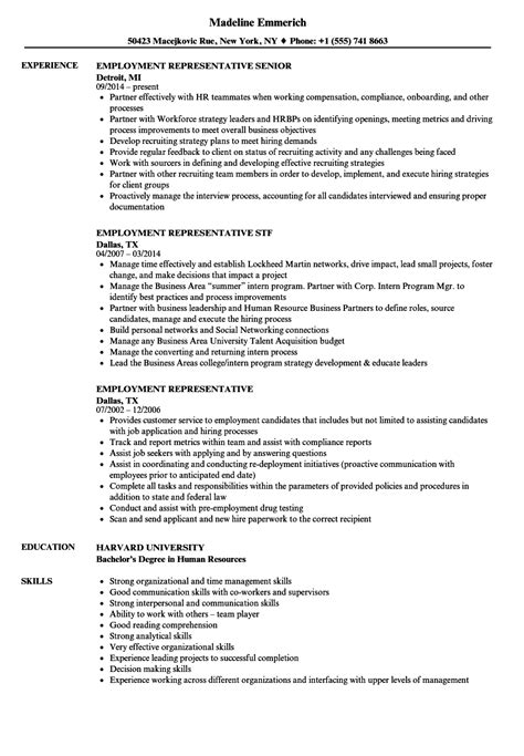 Employment Resume by 10 Employment Resumes Sles Sle