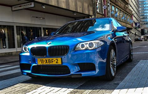 Bmw M5 Blue by Blue Bmw M5 F10 Revs Accelerations Exhaust Sounds