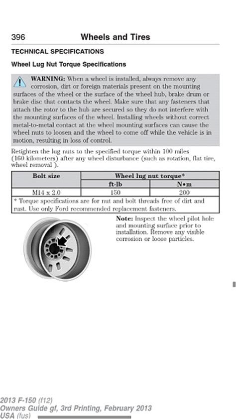 wheel lug torque settings ford  forum community
