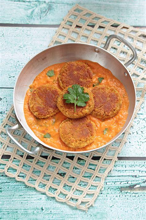 croquettes de lentilles corail sauce tomate coco vegan la table verte