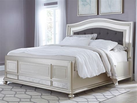 King Headboard by King Panel Bed With Arched Upholstered Headboard And