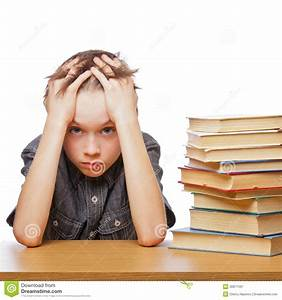 Frustrated Child With Learning Difficulties Stock Image ...