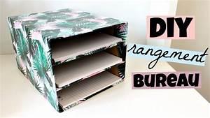 Boite Metal Rangement Papier Administratif : diy rangement bureau pour vos feuilles youtube avec boite ~ Premium-room.com Idées de Décoration