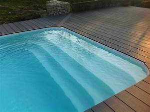 realisation d39une piscine coque polyester avec banquette With piscine provence polyester aubagne